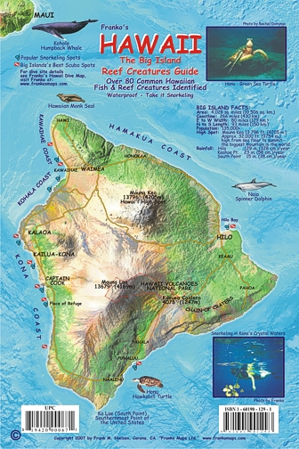 Hawaiian Islands, Reef Creatures Fish ID Mini Card by ...