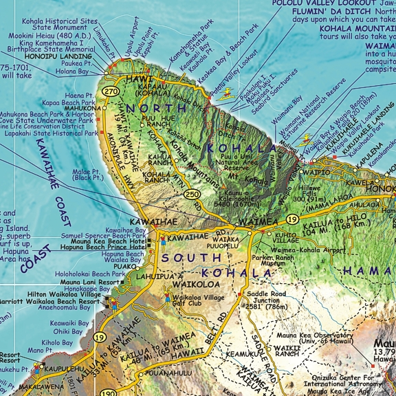 Franko S Hawai I Big Island Guide Map