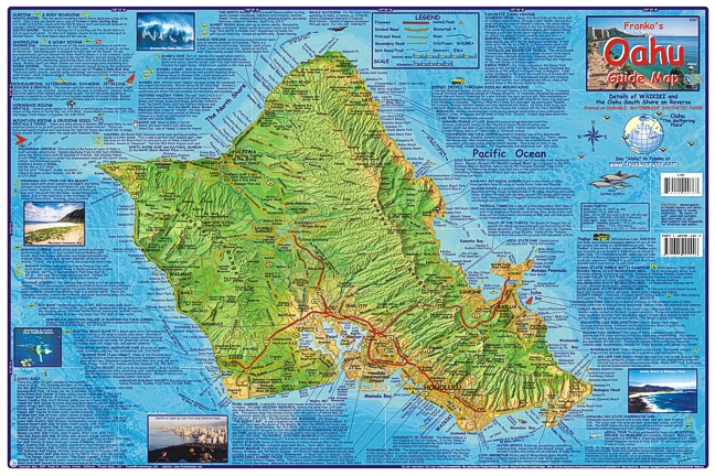 Franko 39 s oahu guide map for Bottom fishing oahu